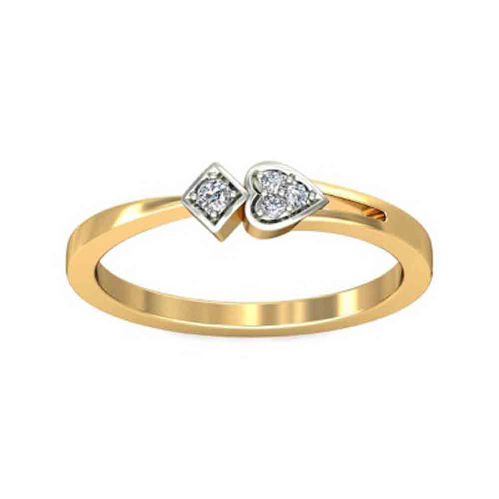 Tivona Heart Diamond Finger Ring