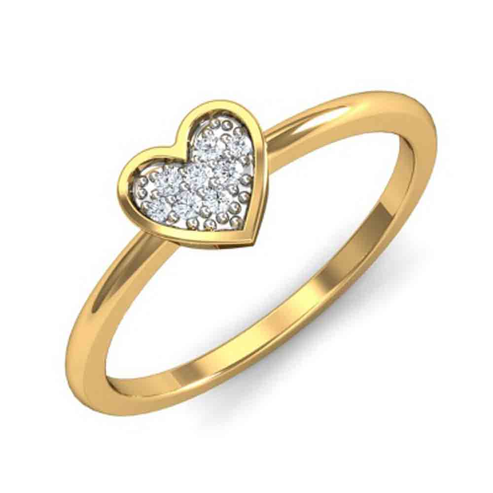 Valentines Special Heart Diamond Finger Ring