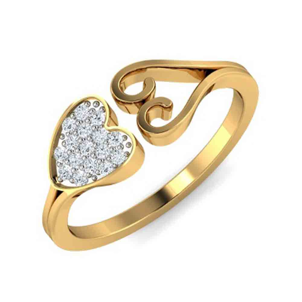Glory Heart Diamond Finger Ring