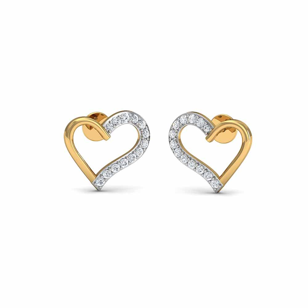 Love Heart Diamond Earrings