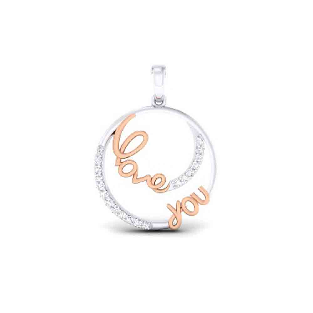 Jewelry-Love You Diamond Pendant