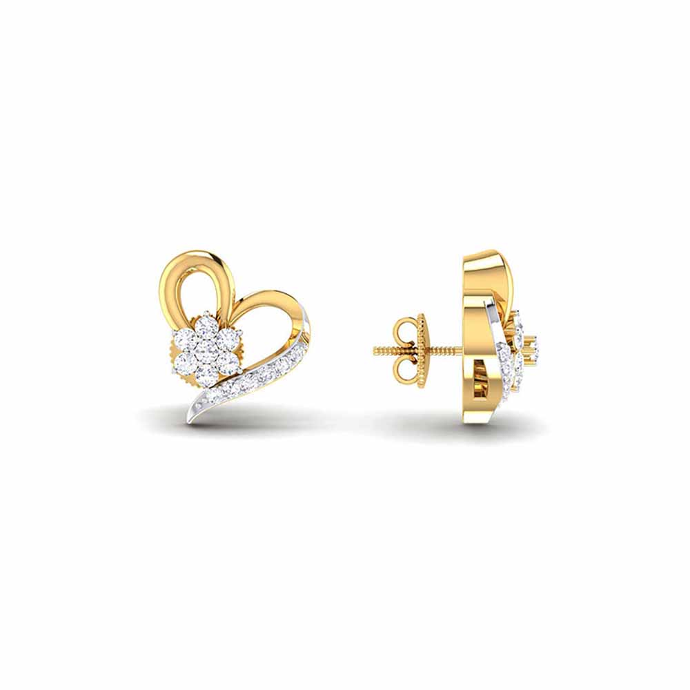 Jewelry-Siya Heart Diamond Earrings