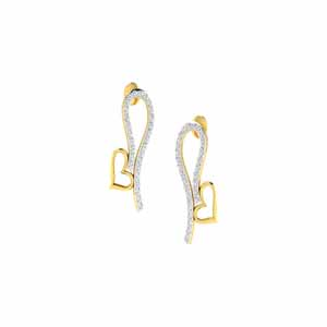 Jewelry-Karel Heart Diamond Earrings