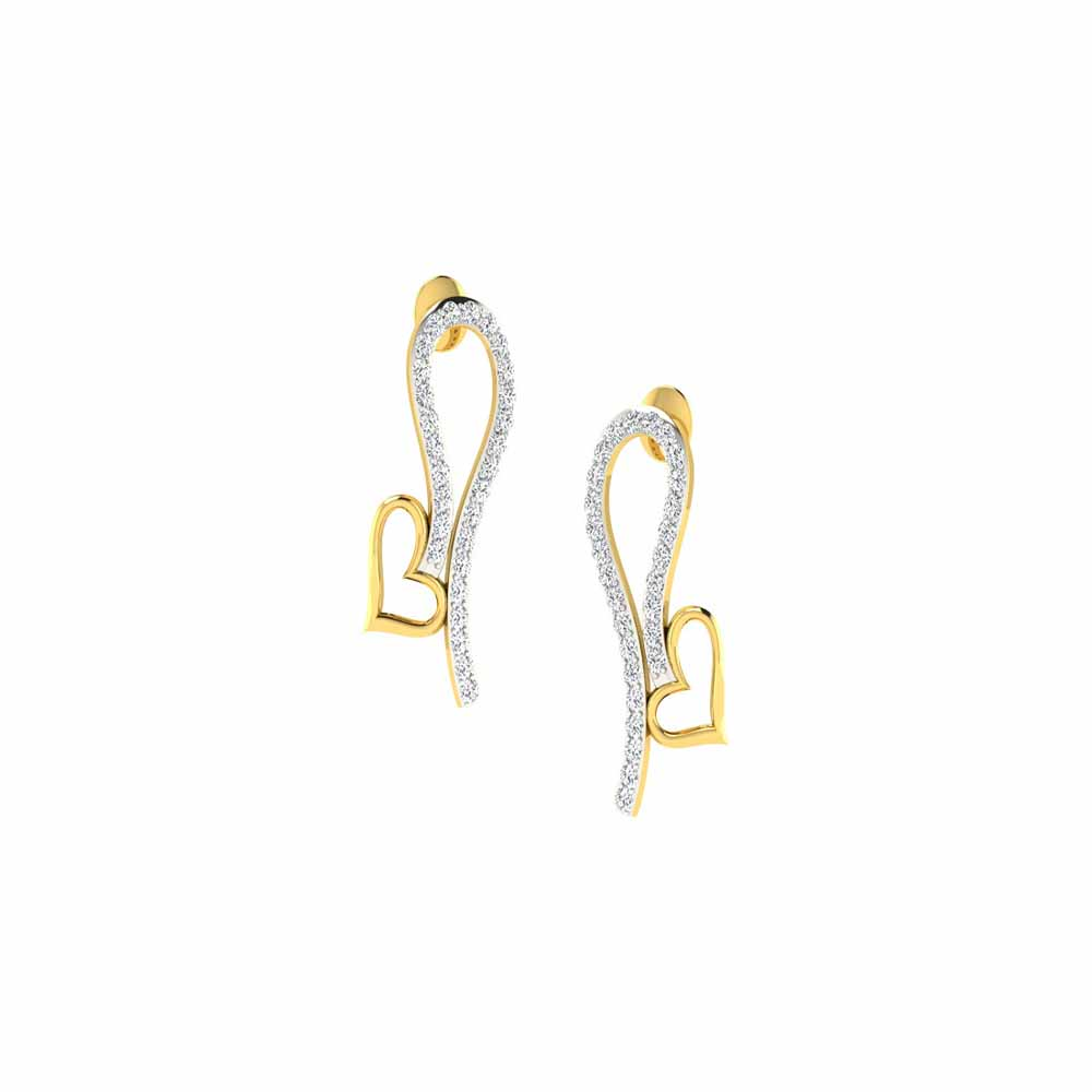 Karel Heart Diamond Earrings