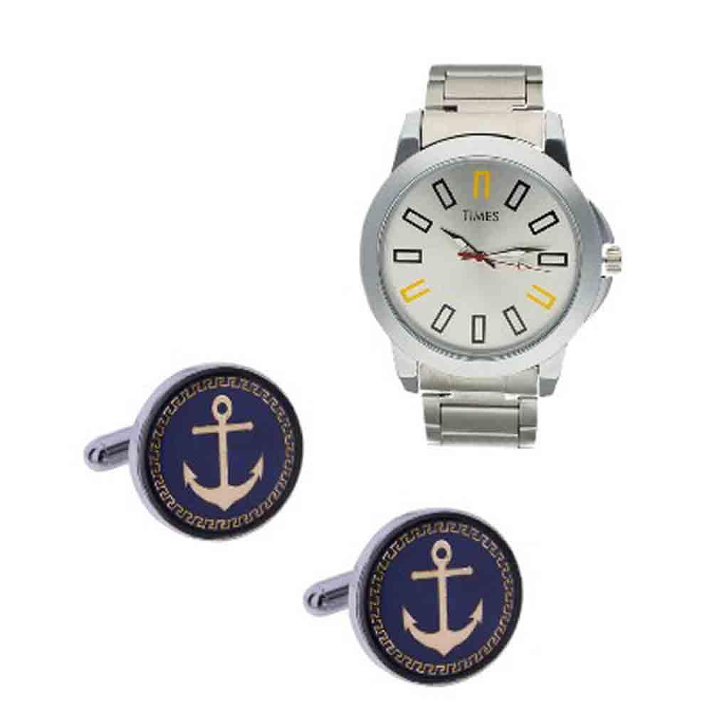 Special Cufflinks With Watch For Him