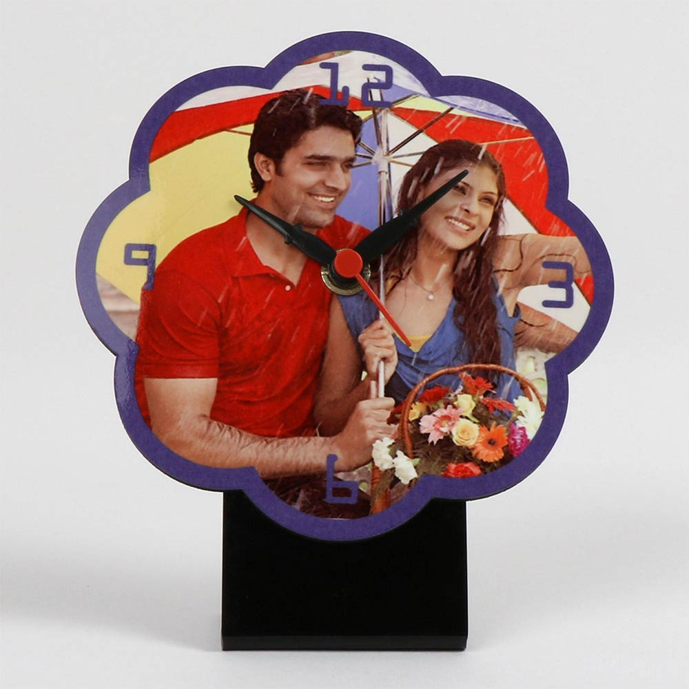 Flower Shaped Personalized Table Clock