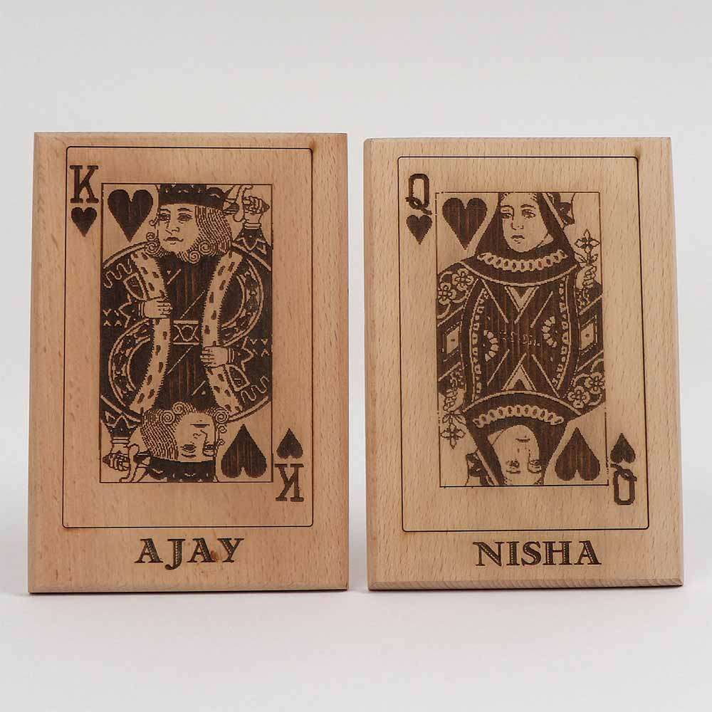 Personalized Gifts-King & Queen Wooden Plaques