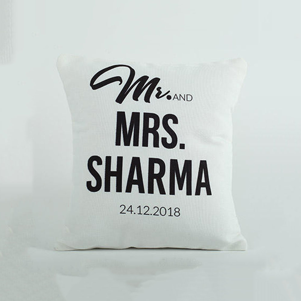 Personalized Cushion Mr N Mrs