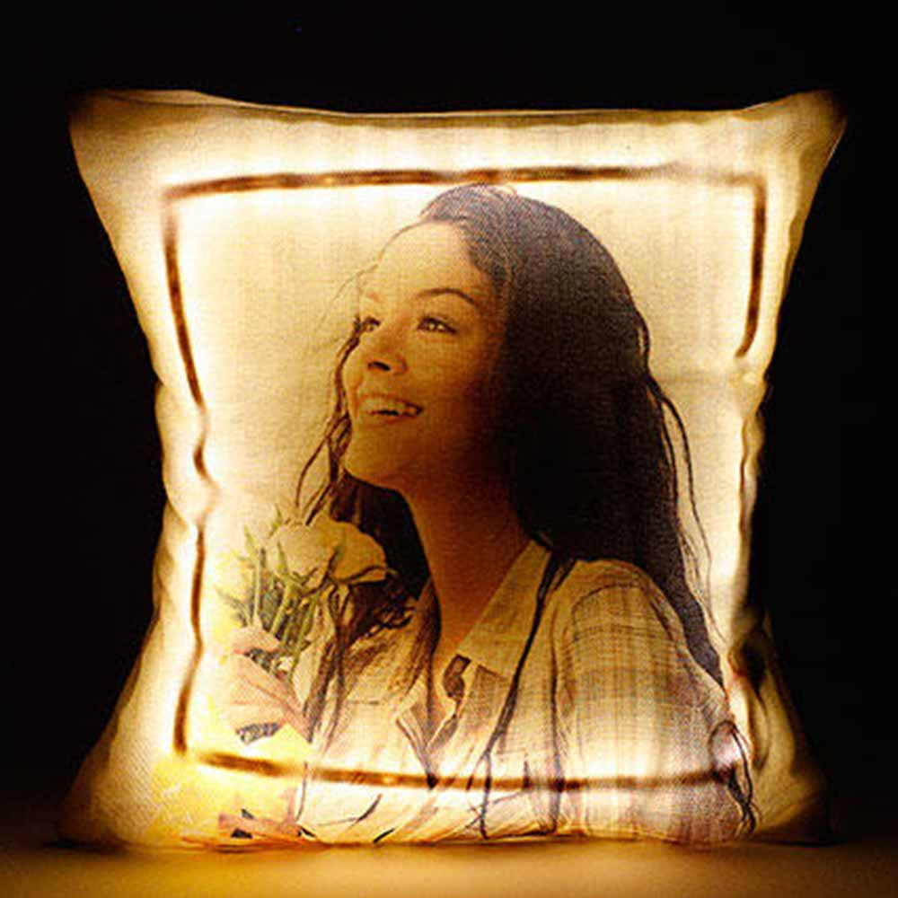 Personalized LED Cushion Yellow