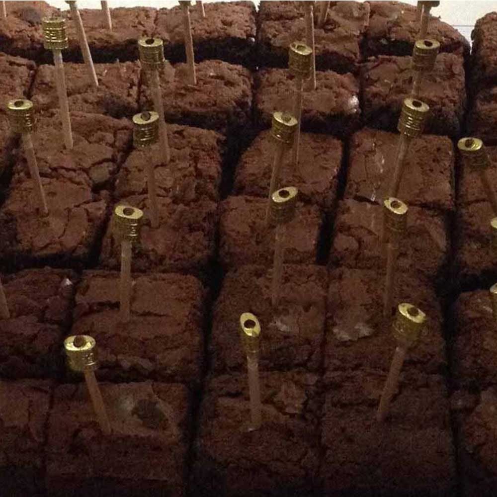 Eggless Chocolate Brownies Box of 8pcs