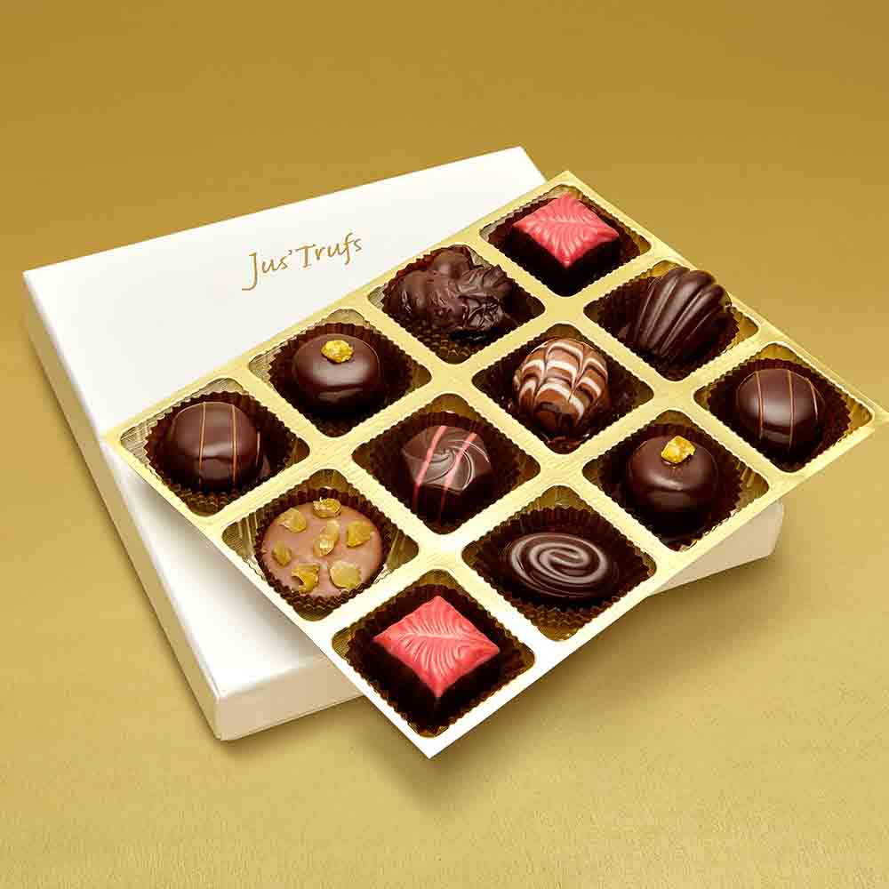 Valentine Luxury Assortment of Chocolate Truffles box of 12