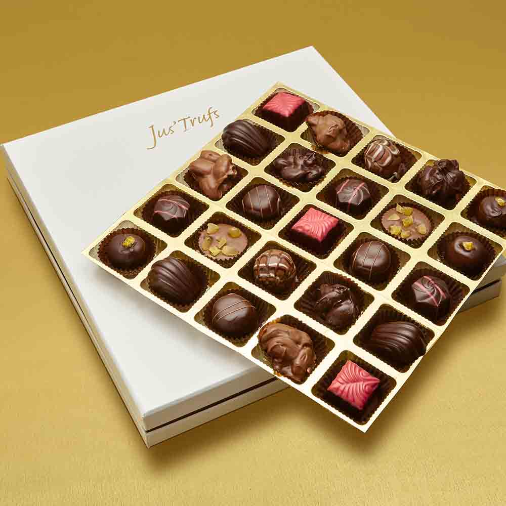 Valentines Luxury Assortment of Chocolate Truffles box of 25