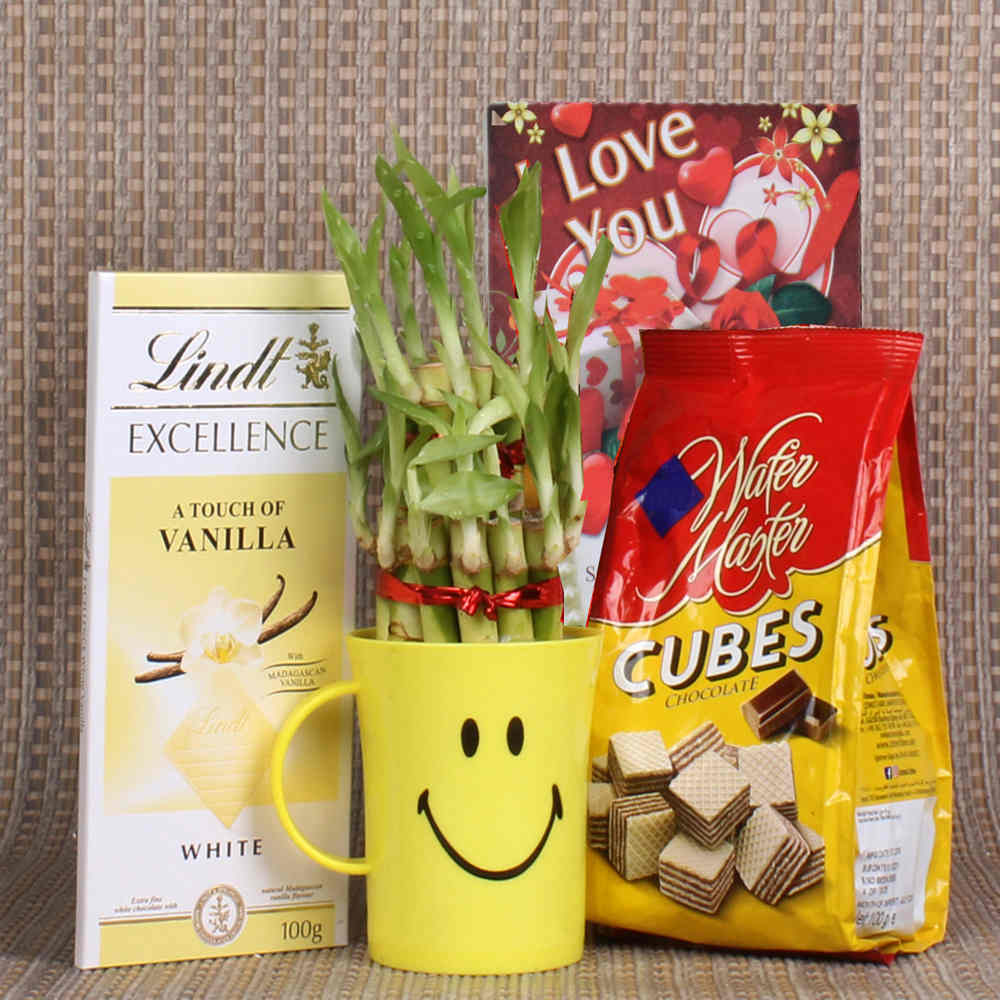 Good Luck Gift of Lindt Chocolate and Wafer Cubes