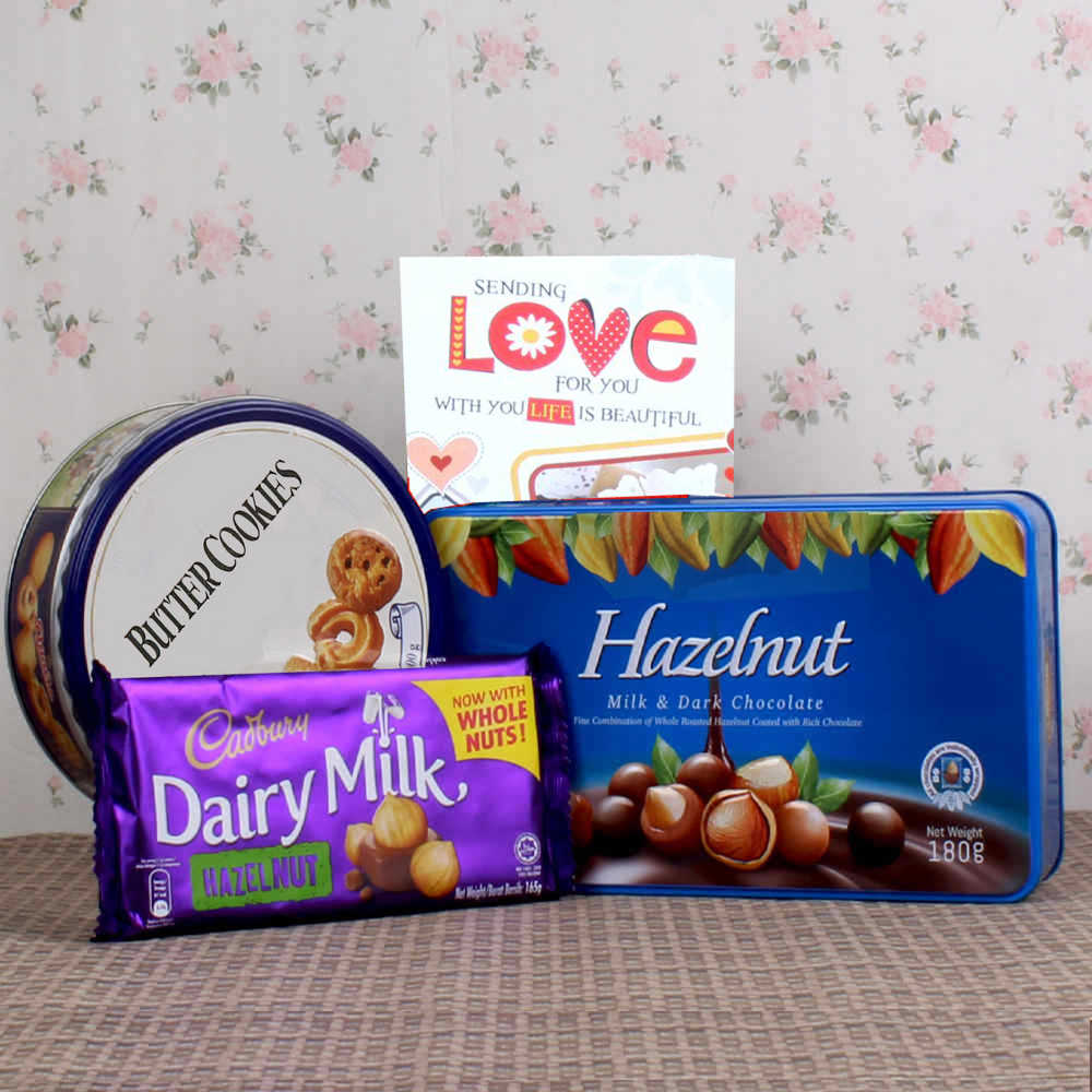Love Special Cookies and Chocolate Combo