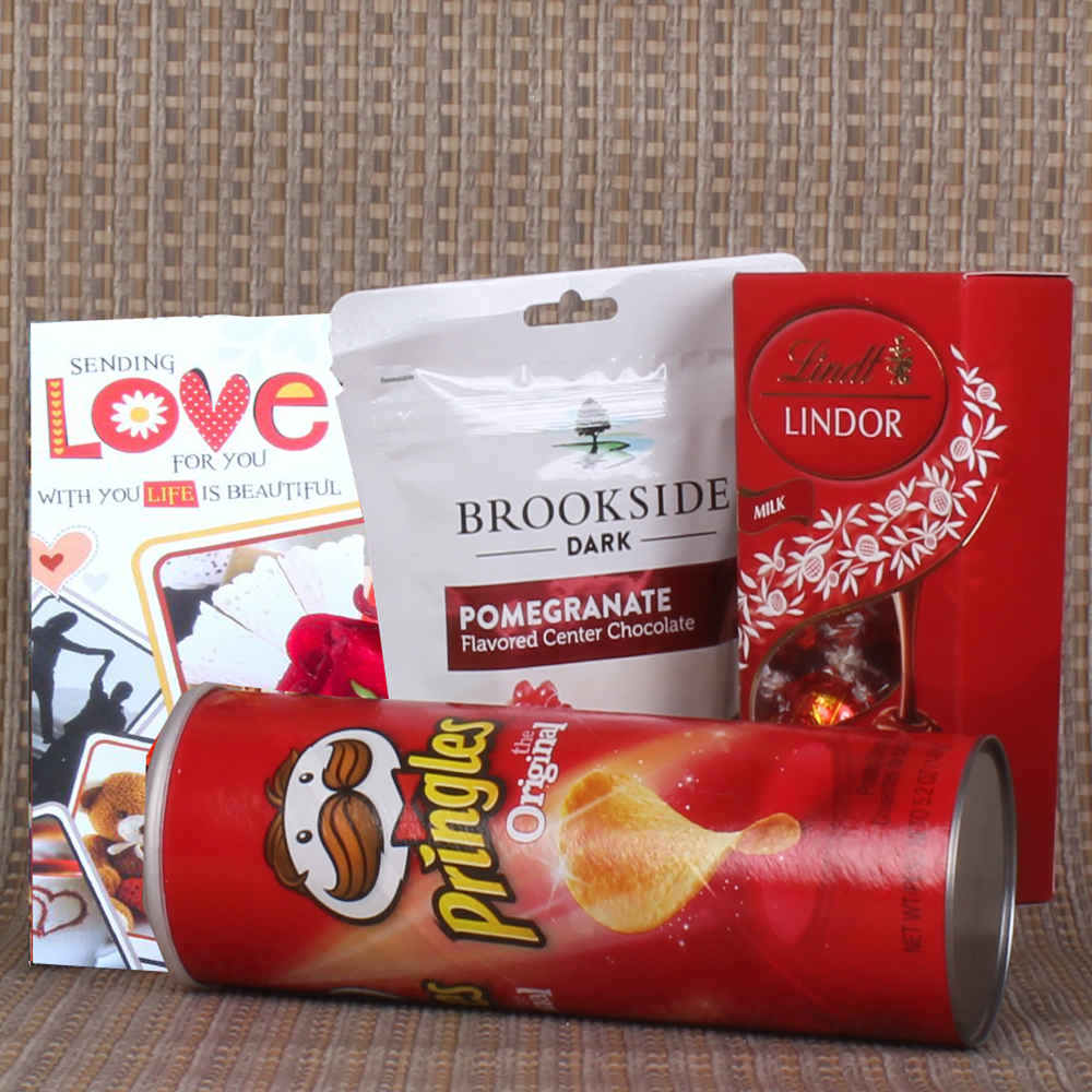 Love Exclusive Pringles and Lindt Lindor with Brookside Chocolate