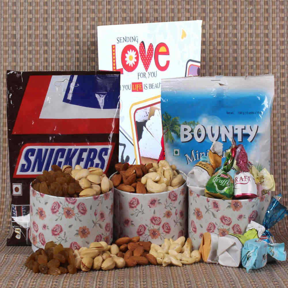 Imported Chocolate and Dryfruit hamper for Valentines Day