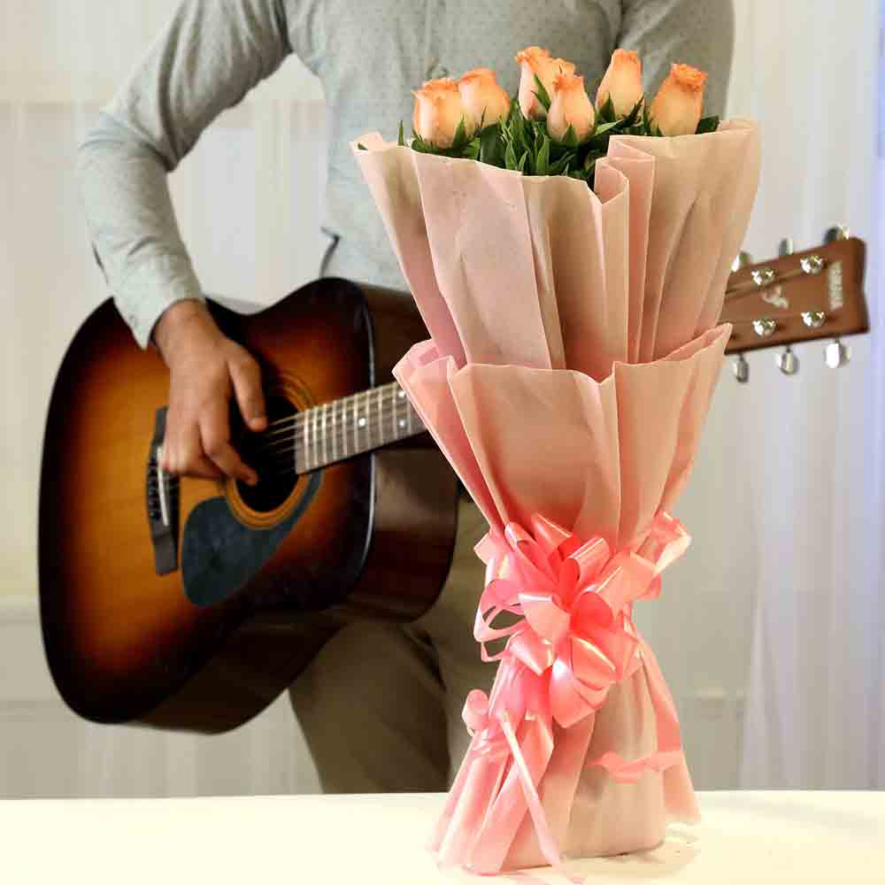 Pink Roses Hearty Notes Combo