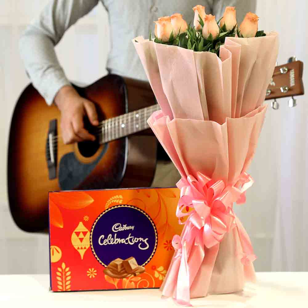 Chocolatey Tunes Pink Roses Combo