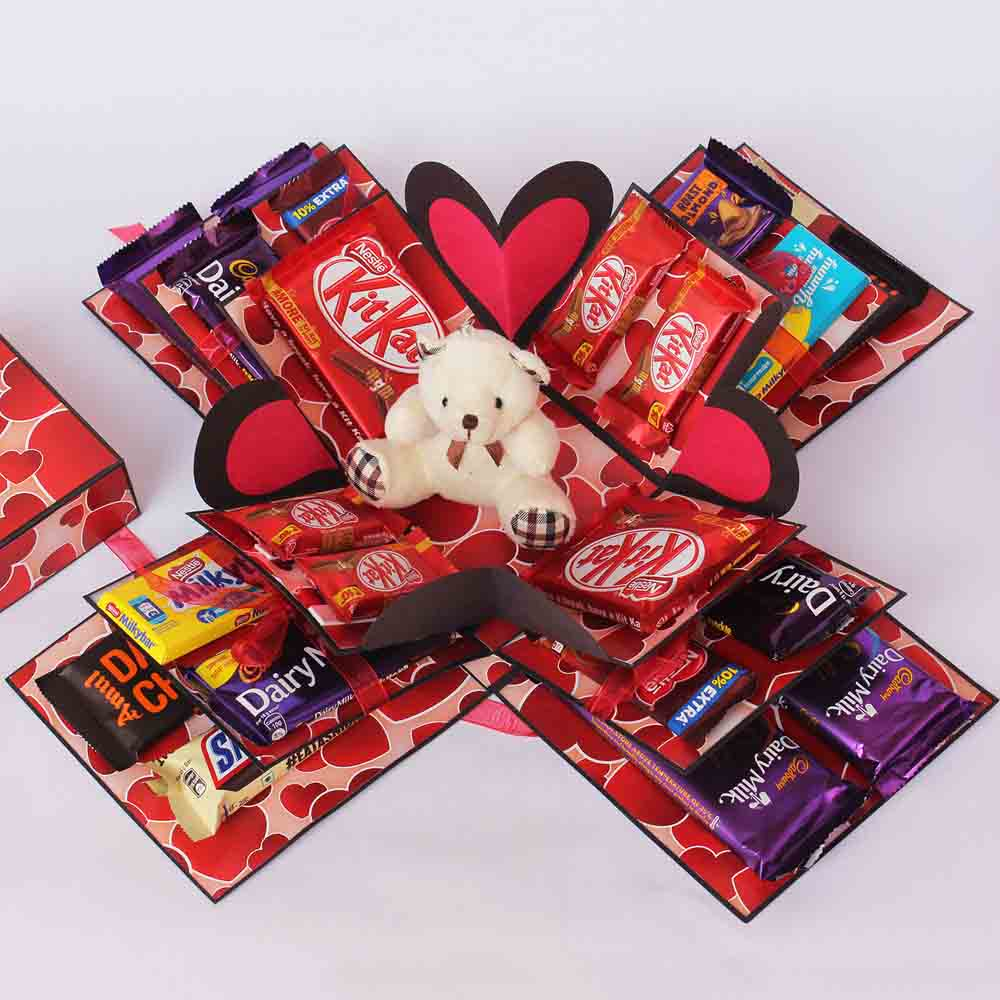 Gift Chocolate Explosion Box on Valentines Day