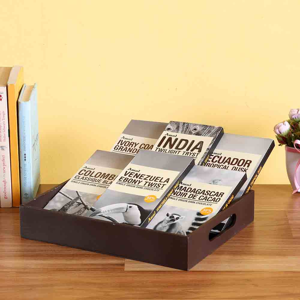 Amul Chocolates Wooden Tray