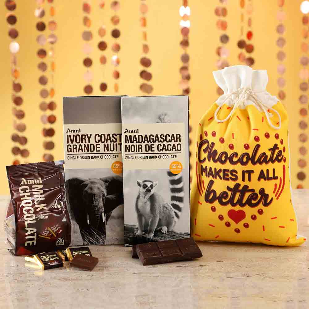 Delicious Amul Chocolates Gunny Bag