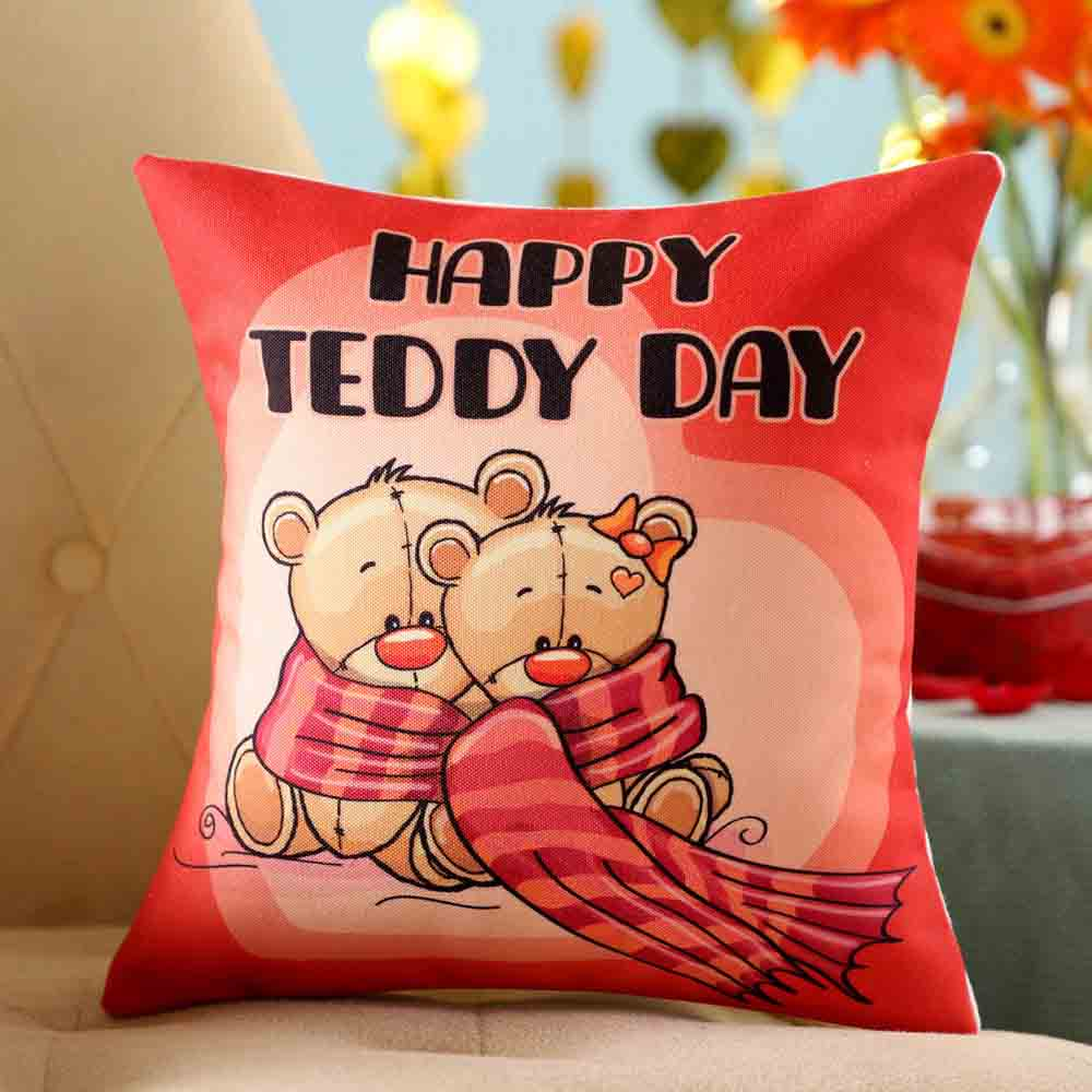 Adorable Teddy Day Cushion