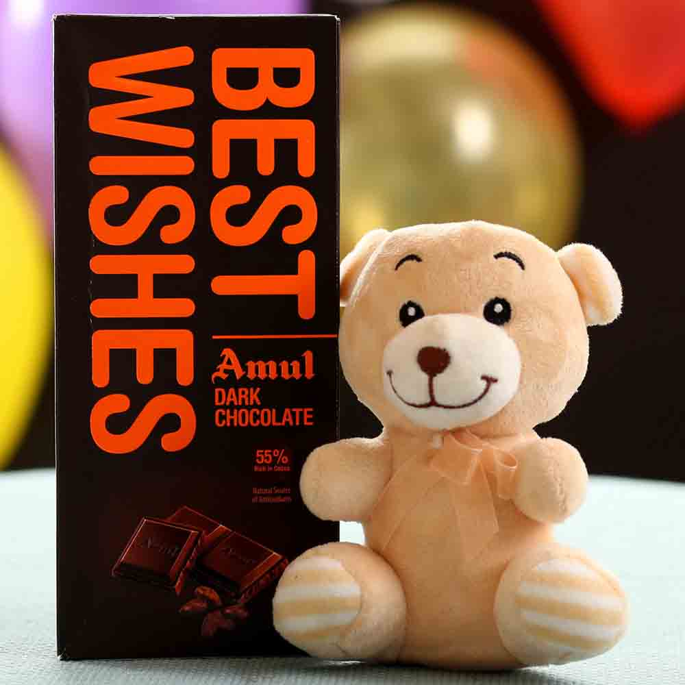 Best Wishes Amul Chocolate Teddy