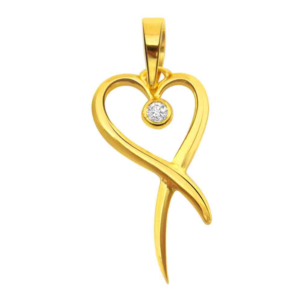 Love in Bloom Solitaire Diamond Pendant