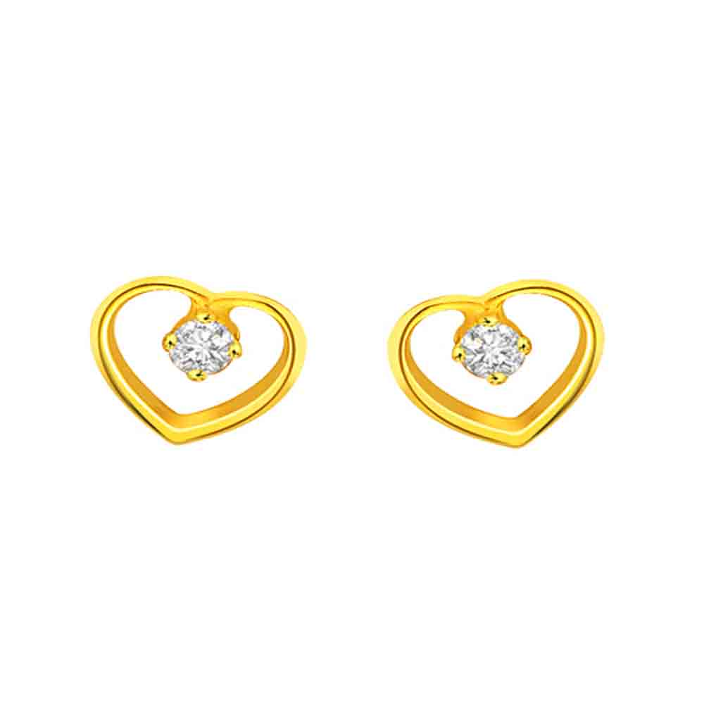 Heart Home Diamond Earrings