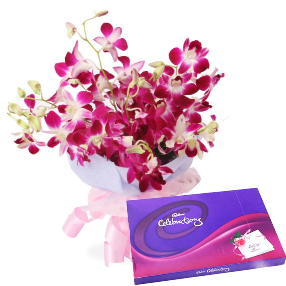 Orchids Charming Beauty with Cadbury Celebrations