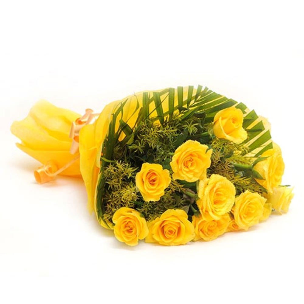 Twelve Yellow Roses for Valentine Crush