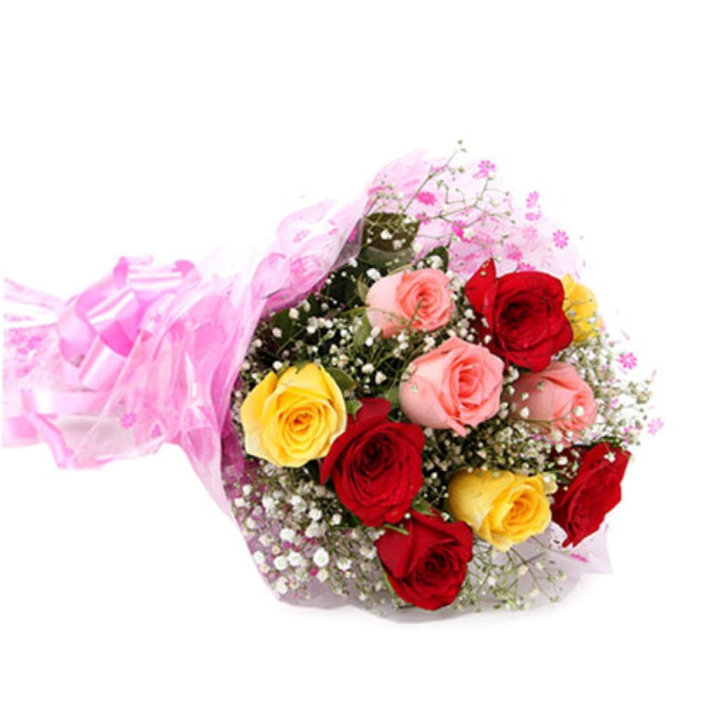 Valentine Beauty of Ten Mix Roses