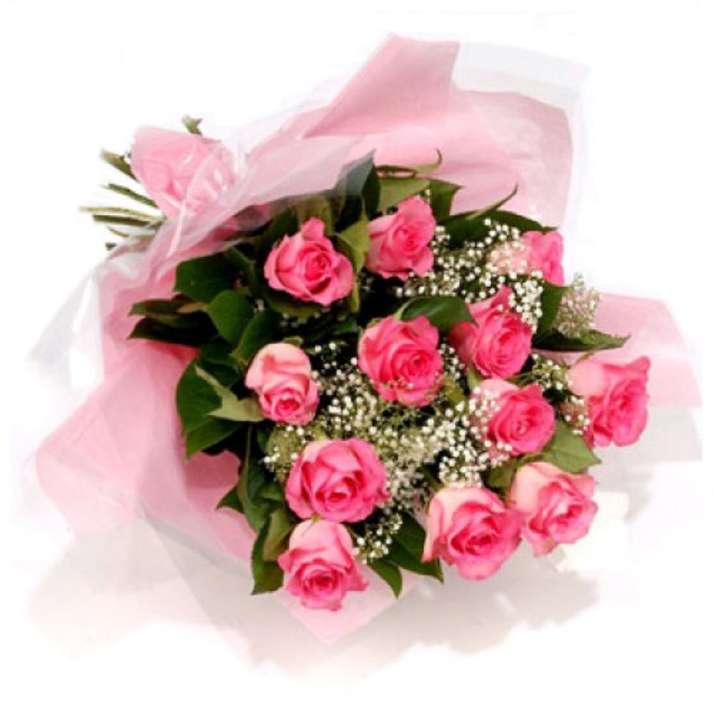 Lovable Bouquet of Pink Roses