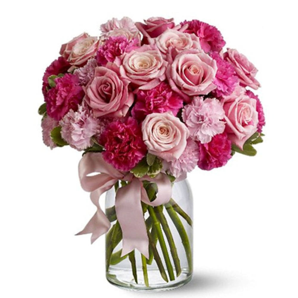 Valentines Love in the Air Floral Vase