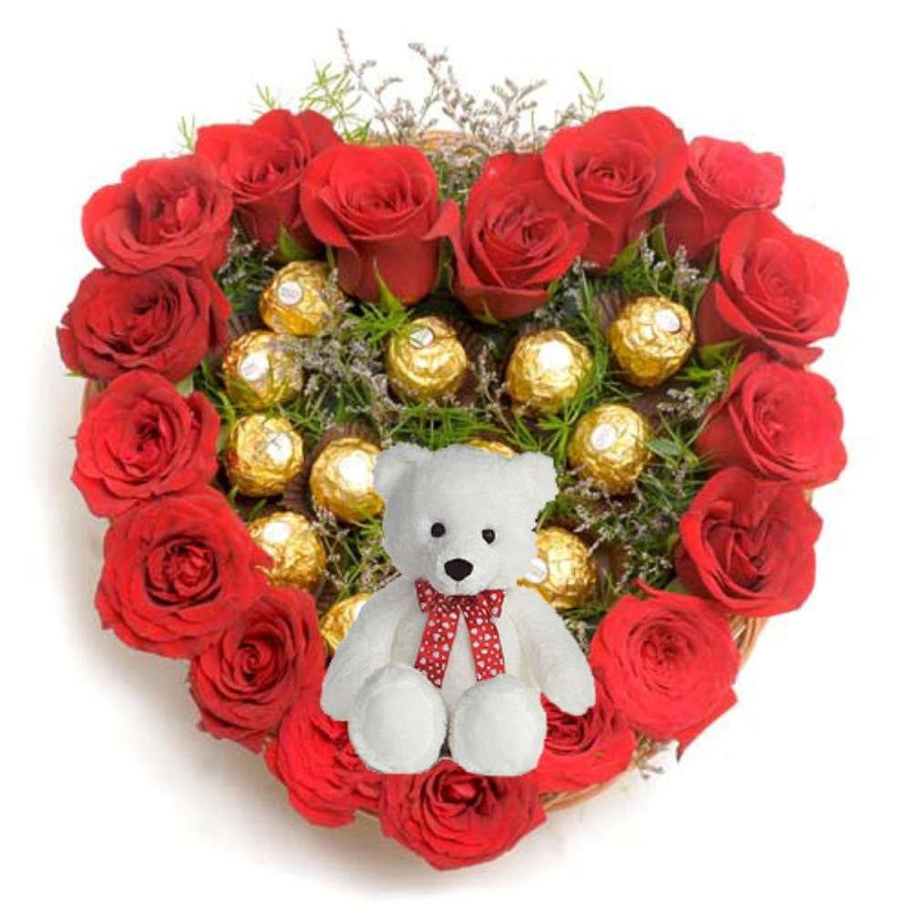 Sweet Heart Arrangement for Valentines Gift