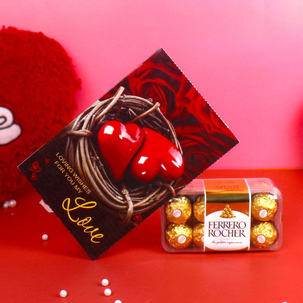 Greeting Card with Ferrero Rocher