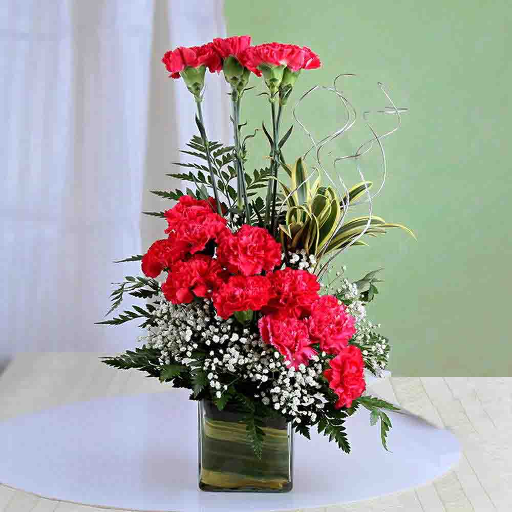 Exotic Pink Carnation Arrangement For Valentine Gift
