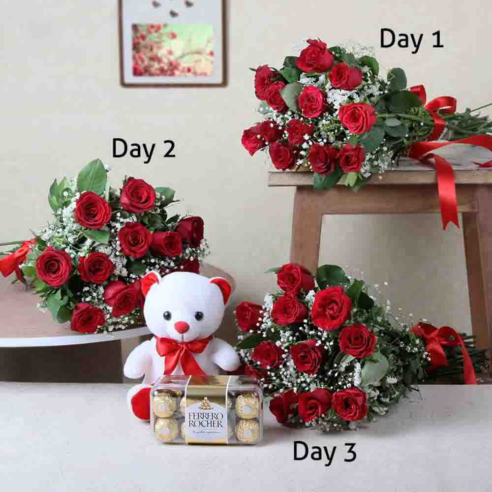 Three Days Valentine Gifts Delivery for Loved Ones