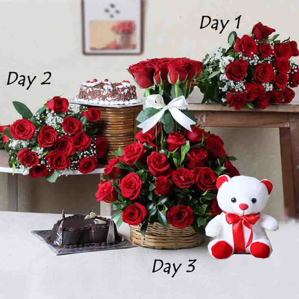 Serenades-Valentine Gifts Combo For Three Days