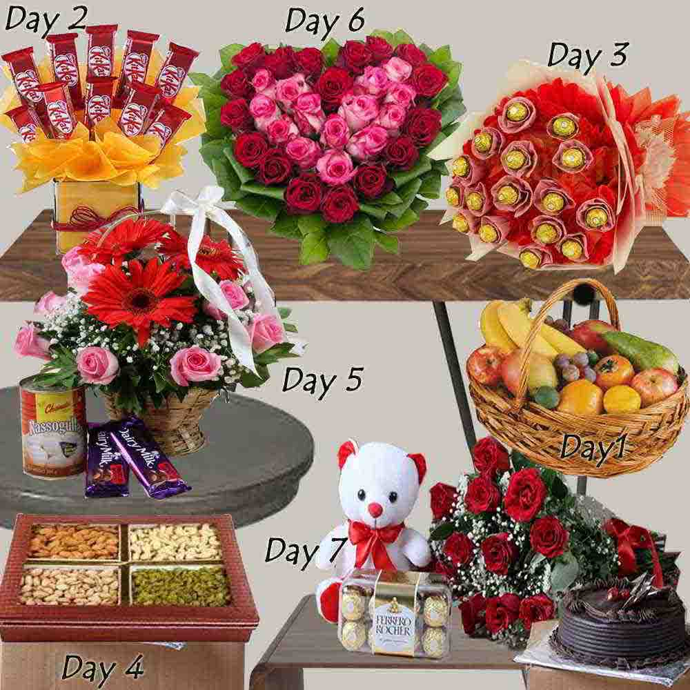 Seven Days Gifts Combo For Valentine