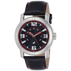 Fastrack Analog Black Dial Men's Watch - 3021SL04
