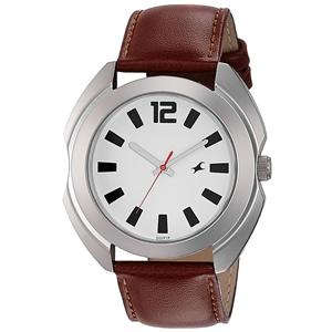 Fastrack Analog White Dial Men's Watch-3117SL01