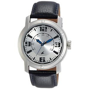 Fastrack Analog Silver Dial Men's Watch-3021SL03