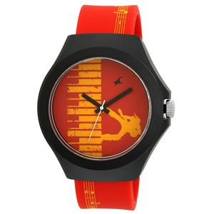 Fastrack Analog Multi-Colour Dial Unisex Watch - 38004PP03