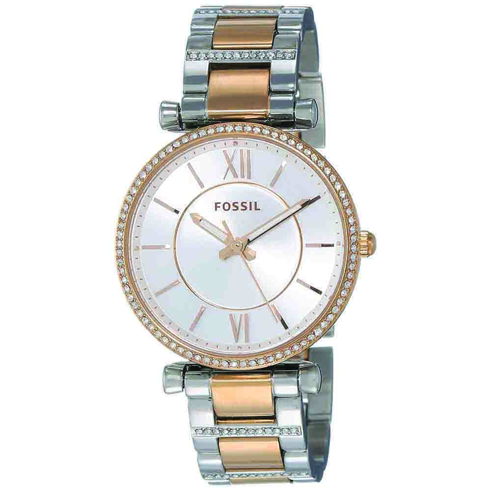 Women's Watches-Fossil Analog Silver Dial Women's Watch