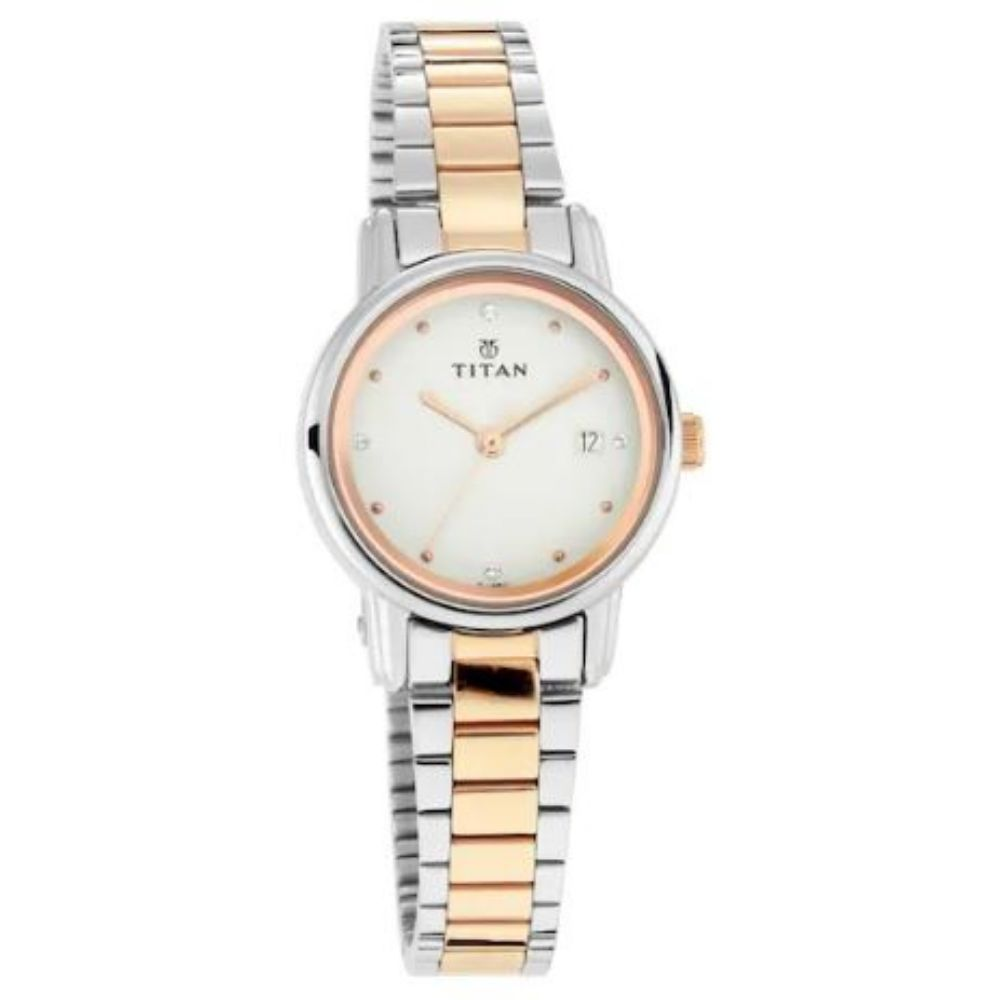 White Dial Stainless Steel Watch
