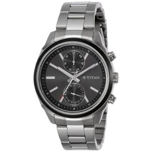 Workwear Watch with Anthracite Dial & Stainless Steel Strap
