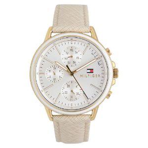 Tommy Hilfiger-Tommy Hilfiger Womens Leather Multi-Function Watch