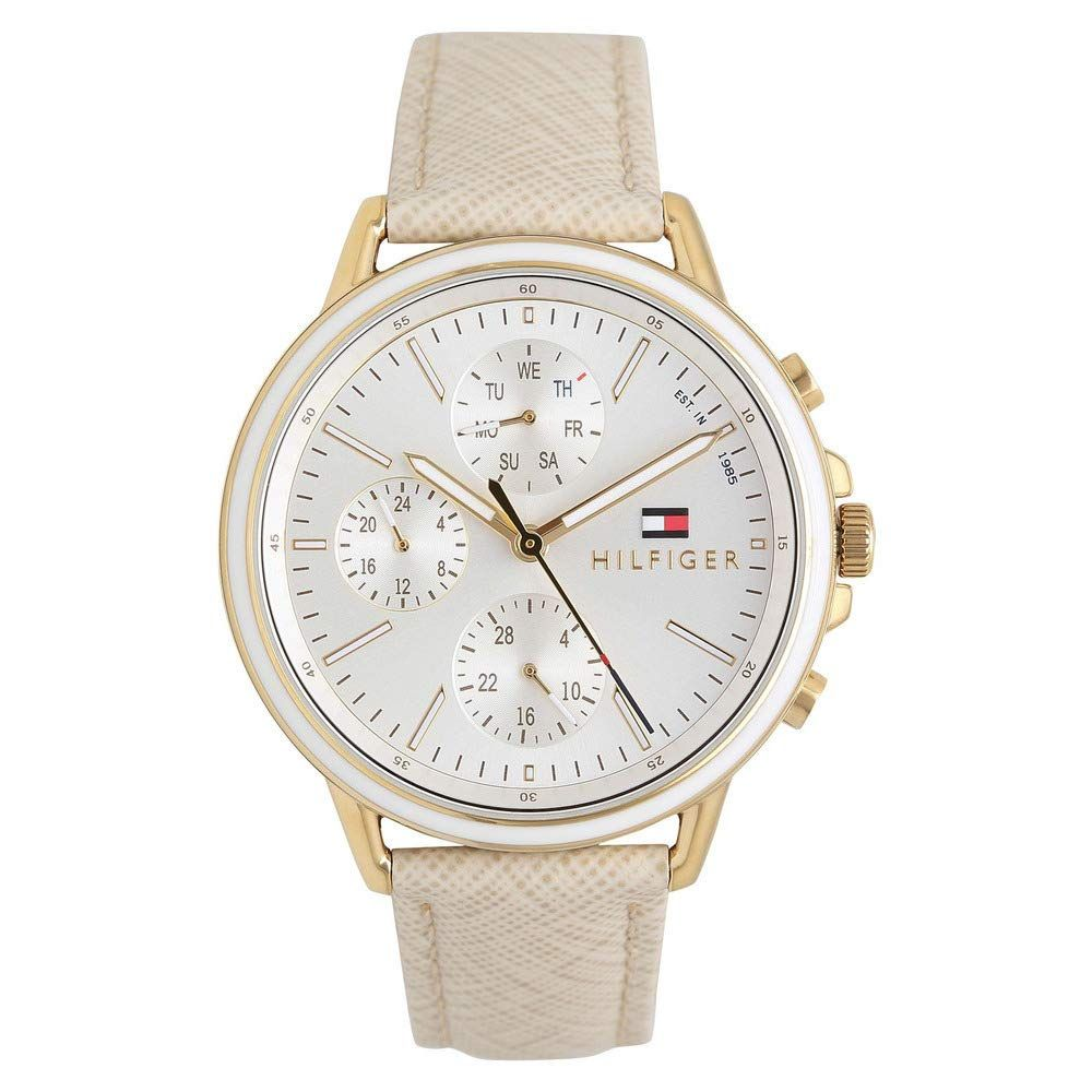 Tommy Hilfiger Womens Leather Multi-Function Watch