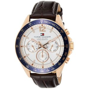 Tommy Hilfiger-Tommy Hilfiger Men's Sport Watch with Brown Leather Band